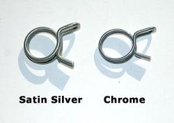 Fuel Hose Spring Clip - Chrome or Satin Finish