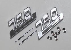 Sidecover Badge Set - 750 GT