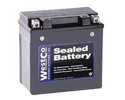 WestCo 12V14B AGM Battery - kick start only bevel twins
