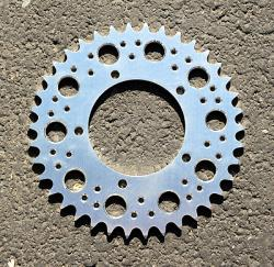 520 Rear Sprocket - BARE or TITAN Aluminum w/Ultralight Holes - Bevel Twins