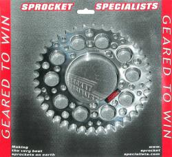 530 Rear Sprocket - Polished & Lightened - Bevel Twins