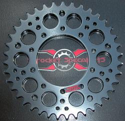 530 Rear Aluminum Sprocket - Hard Anodized - Bevel Twins - Various # Teeth