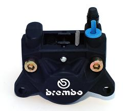 Brake Caliper - Brembo 32F BLACK - Top Inlet & Bleed