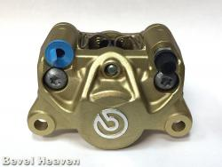 Brake Caliper - Brembo 34G GOLD - Front Inlet & Bleed