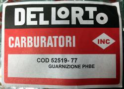 Dellorto PHBE Seal Kit