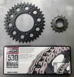 BMOR 530 Natural 0-Ring Chain + Front & Rear Sprocket Kit