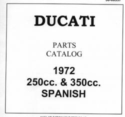 Parts Catalog - 1972 250cc & 350cc Spanish Mototrans