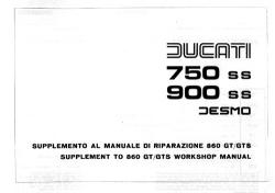 Workshop Manual - 1975/77 750/900SS - Supplement to 860GT/GTS Manual