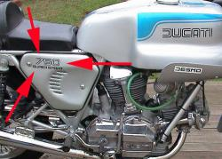 Sticker: 750SS Imola Sidecover