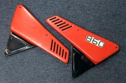 860 Side Panel Set - Red & Black