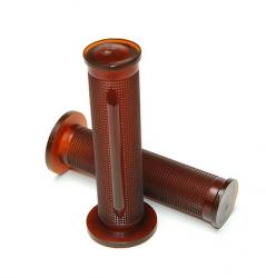Grip Set - Tommaselli Daytona - Opaque Brown - CLOSED or OPEN Ends