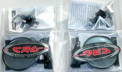 "CRG - 2 black 3"" HS Mirrors + 2 Adapters"