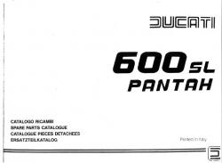 Ducati 600SL Pantah Spare Parts Catalog - Digital
