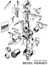 Dellorto PHF Parts Diagram - Digital