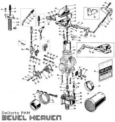 Dellorto PHM Parts Diagram - Digital