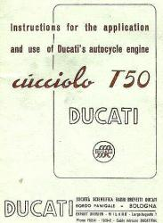 Ducati T50 Cucciolo Owner Manual - Digital