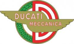 "Sticker: Ducati Meccanica - 2.50"" x 4.75"" [63mm x 123mm]"