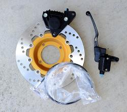 Left Side EBC Rotor + Brembo F08 Caliper + 12mm Brembo Master Cylinder + SS Line Kit