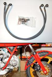 Stainless Steel Line - Splitter To Caliper [Behind Forks]