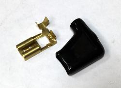 Spade Terminal & Cover - Flag Type 16-20 AWG