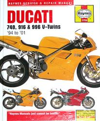 Workshop Manual - 748, 916, 996 V-Twins '94-'01