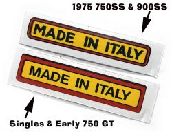 Sticker: Made In Italy - Early GT Style