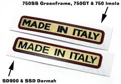 Sticker: Made In Italy - Gold Style
