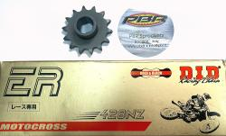DID 428 NZ Chain & Front 428 Sprocket for Ducati Singles