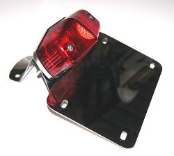 Stainless License Plate Bracket & Tail Light