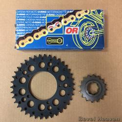 Regina 530 OR O-Ring Gold & Black Chain + Front & Rear Sprockets