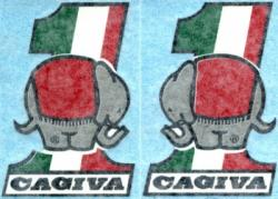Sticker Set: Cagiva #1