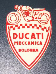 Sticker: Ducati Meccanica 'Shield' - red/white