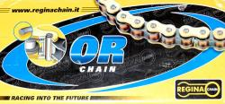 CHAIN: REGINA 520 Gold & Black O-Ring