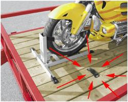 Condor Trailer Adapter Kit [use you stand with your trailer for hauling with this]